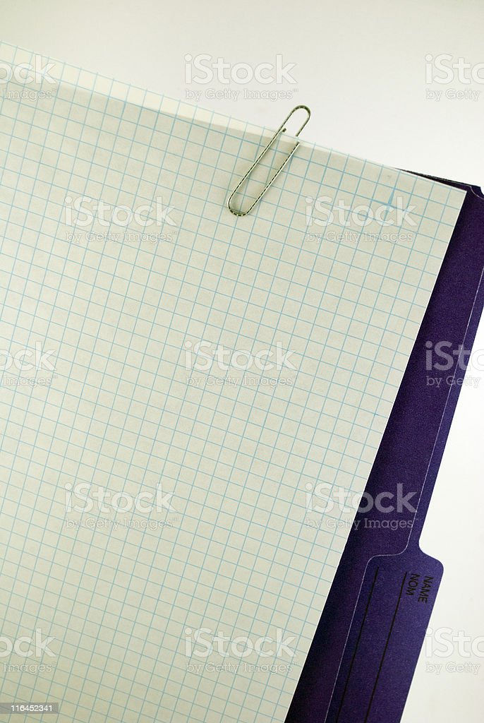 Graph Paper and Folder royalty-free stock photo