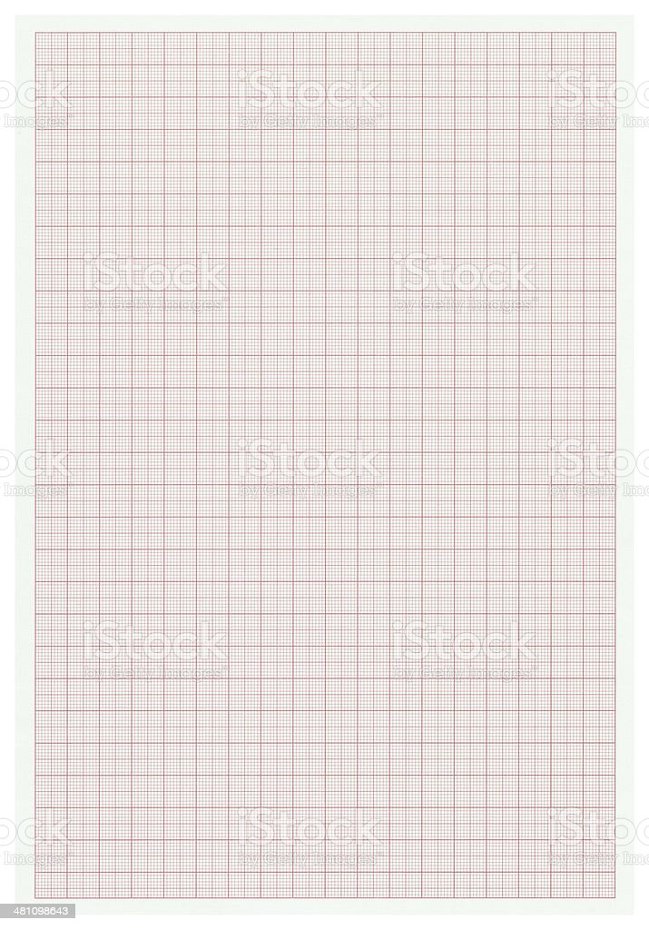Graph paper istolated on white (clipping path included) stock photo