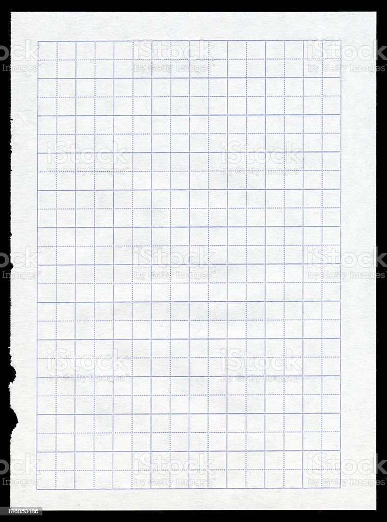Graph paper textured background isolated stock photo