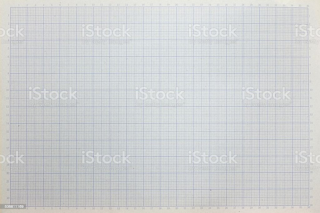 Graph Paper With Grid Lines And Axis Numbers Stock Photo