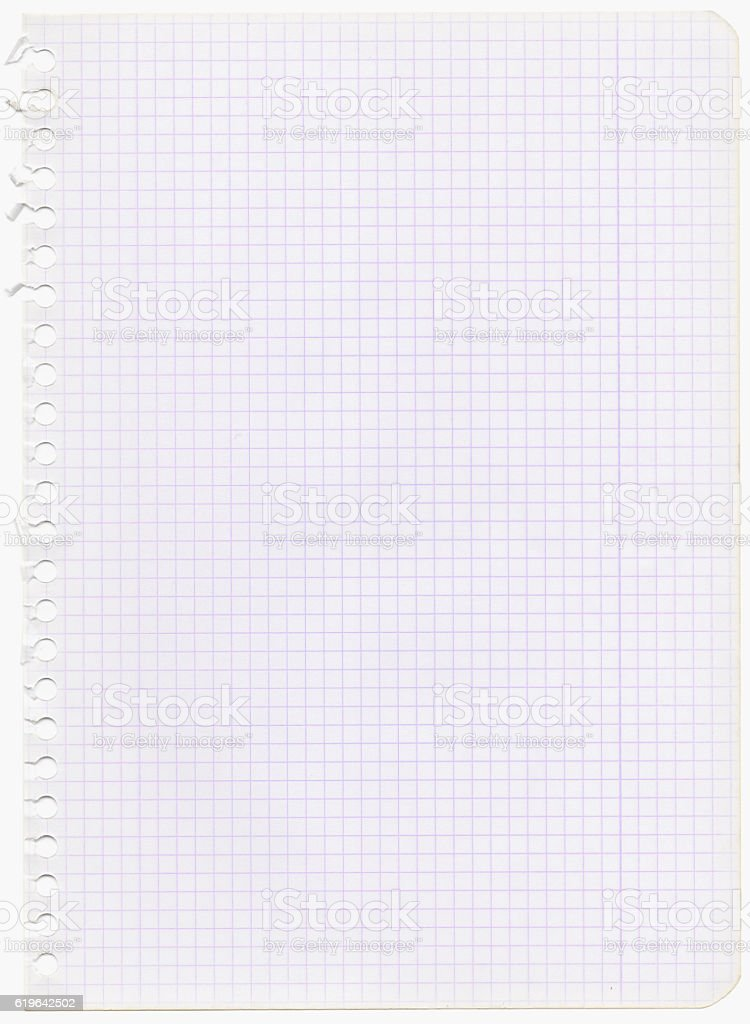 graph paper with purple lines stock photo