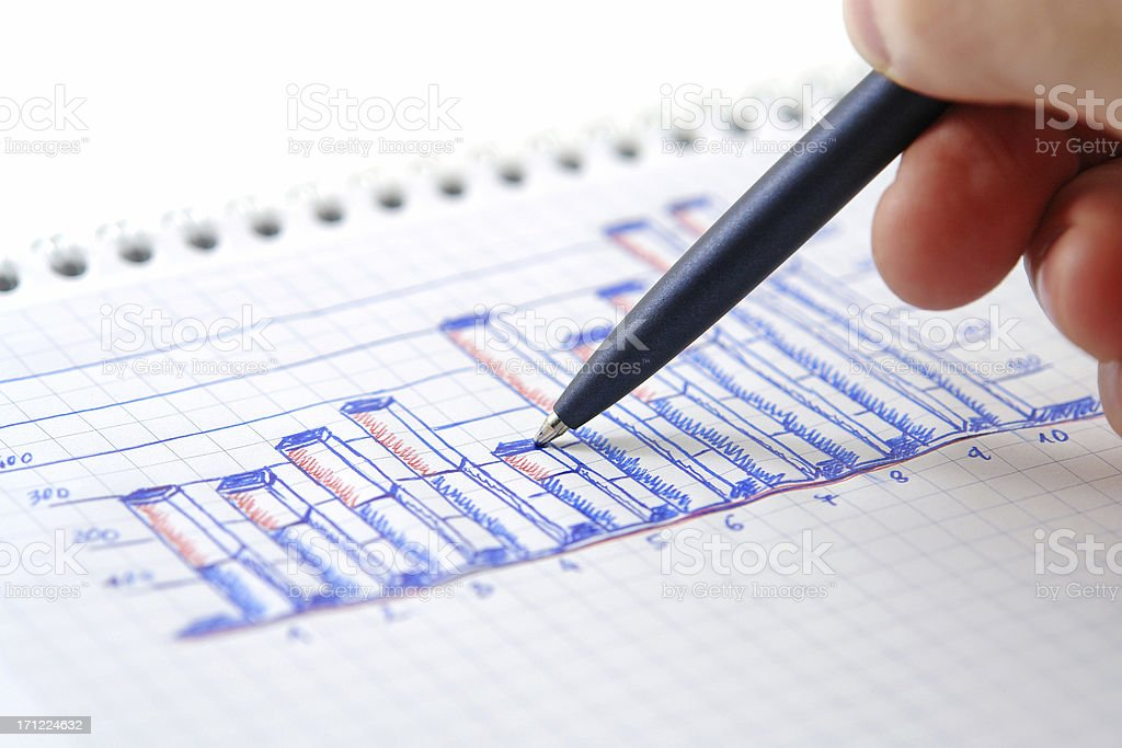 Graph Review royalty-free stock photo