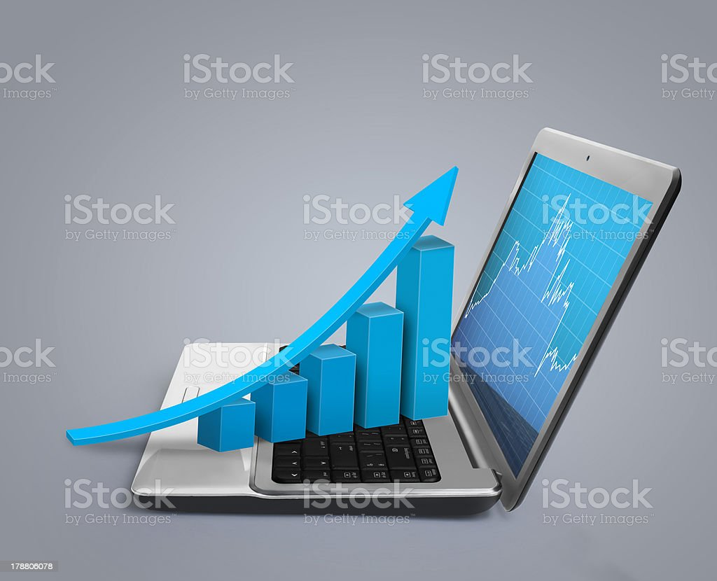 graph showing high growth royalty-free stock photo