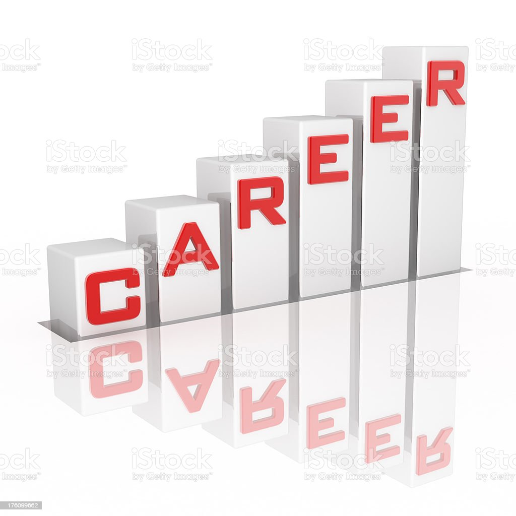 Graph to Career royalty-free stock photo