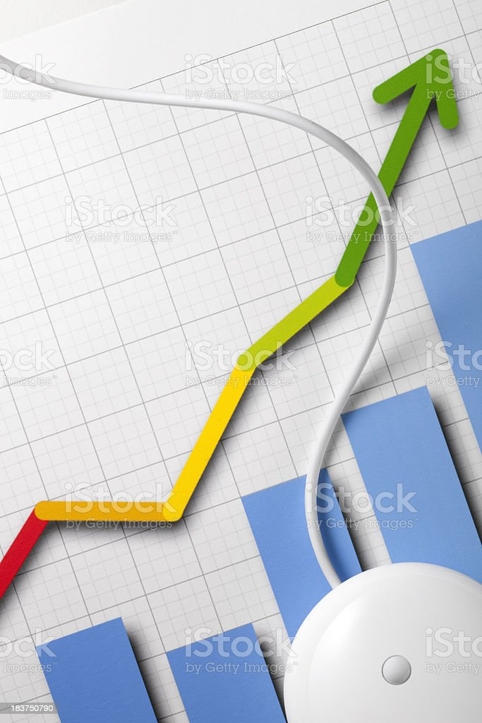 Graph with a mouse. royalty-free stock photo