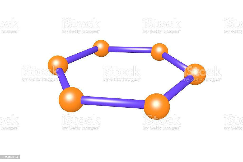 graphene atom stock photo