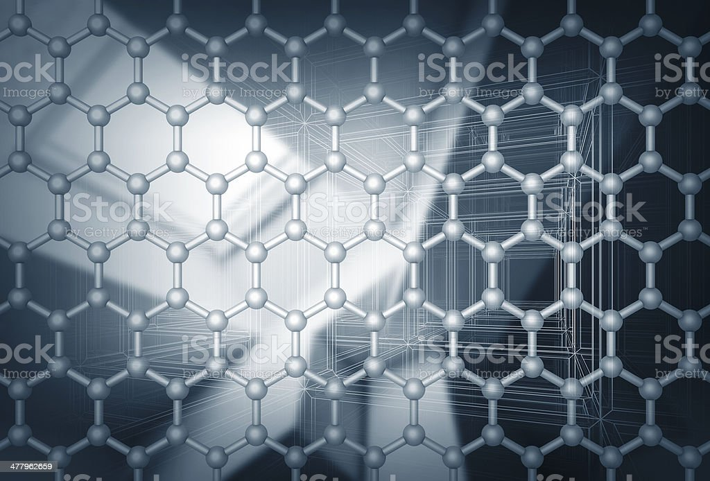 Graphene layer structure model royalty-free stock photo