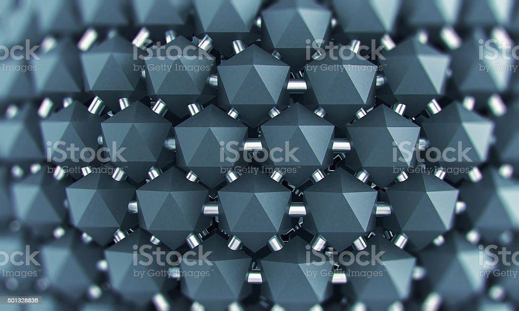 Graphene nano structure grid stock photo