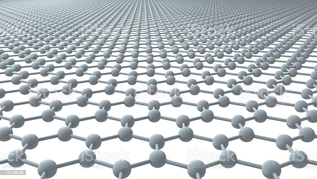 Graphene - Regular Hexagonal Pattern stock photo