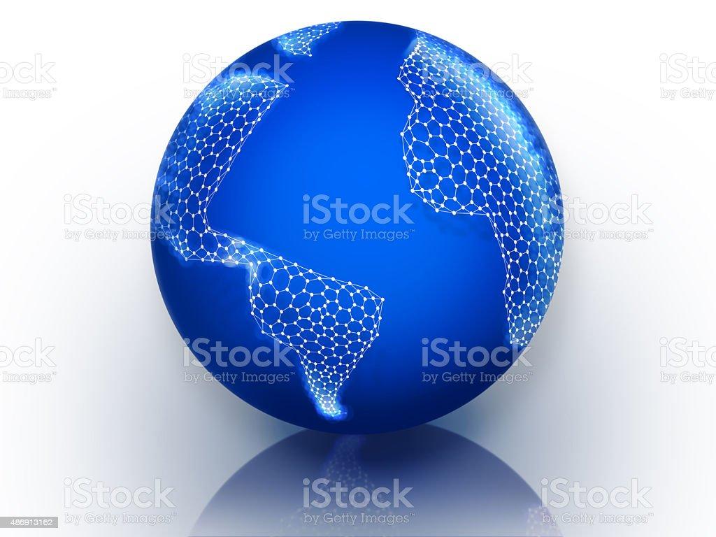 Graphene World stock photo