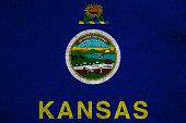graphic american state grunge flag of kansas