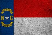 graphic american state grunge flag of north carolina