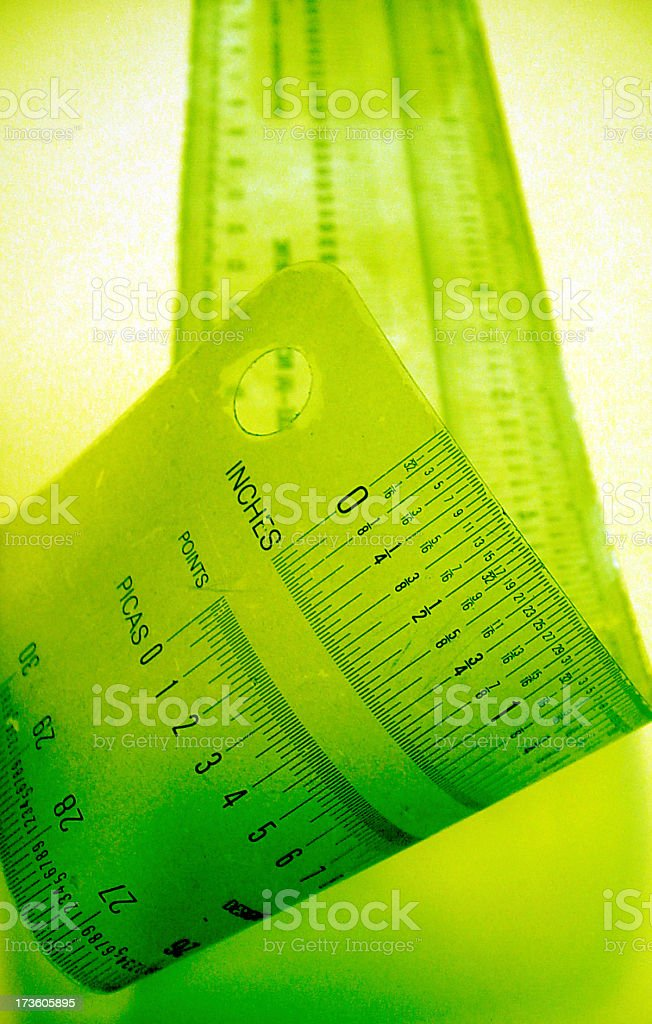 graphic arts ruler - green royalty-free stock photo