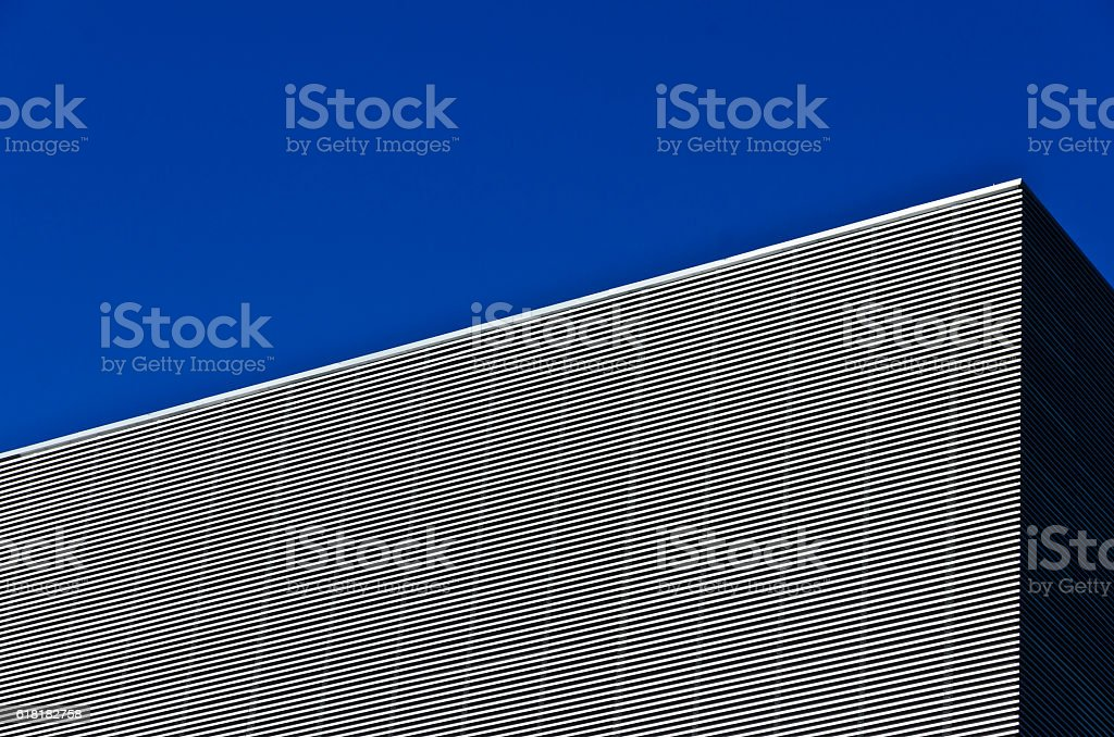 Graphic building detail, showing a sharp angle. royalty-free stock photo