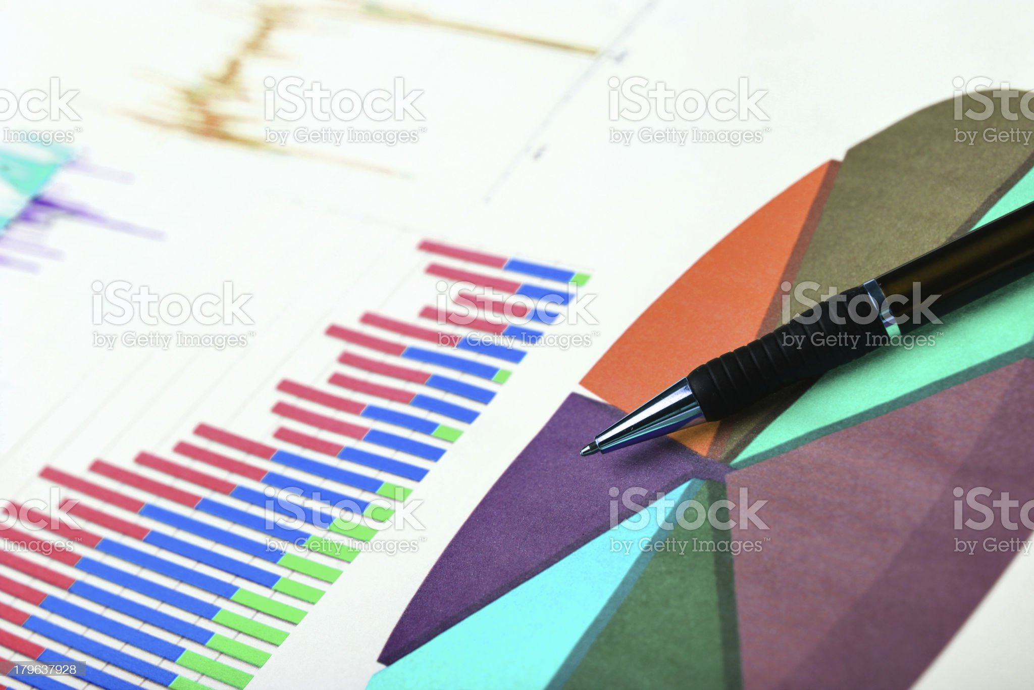 Graphic charts royalty-free stock photo