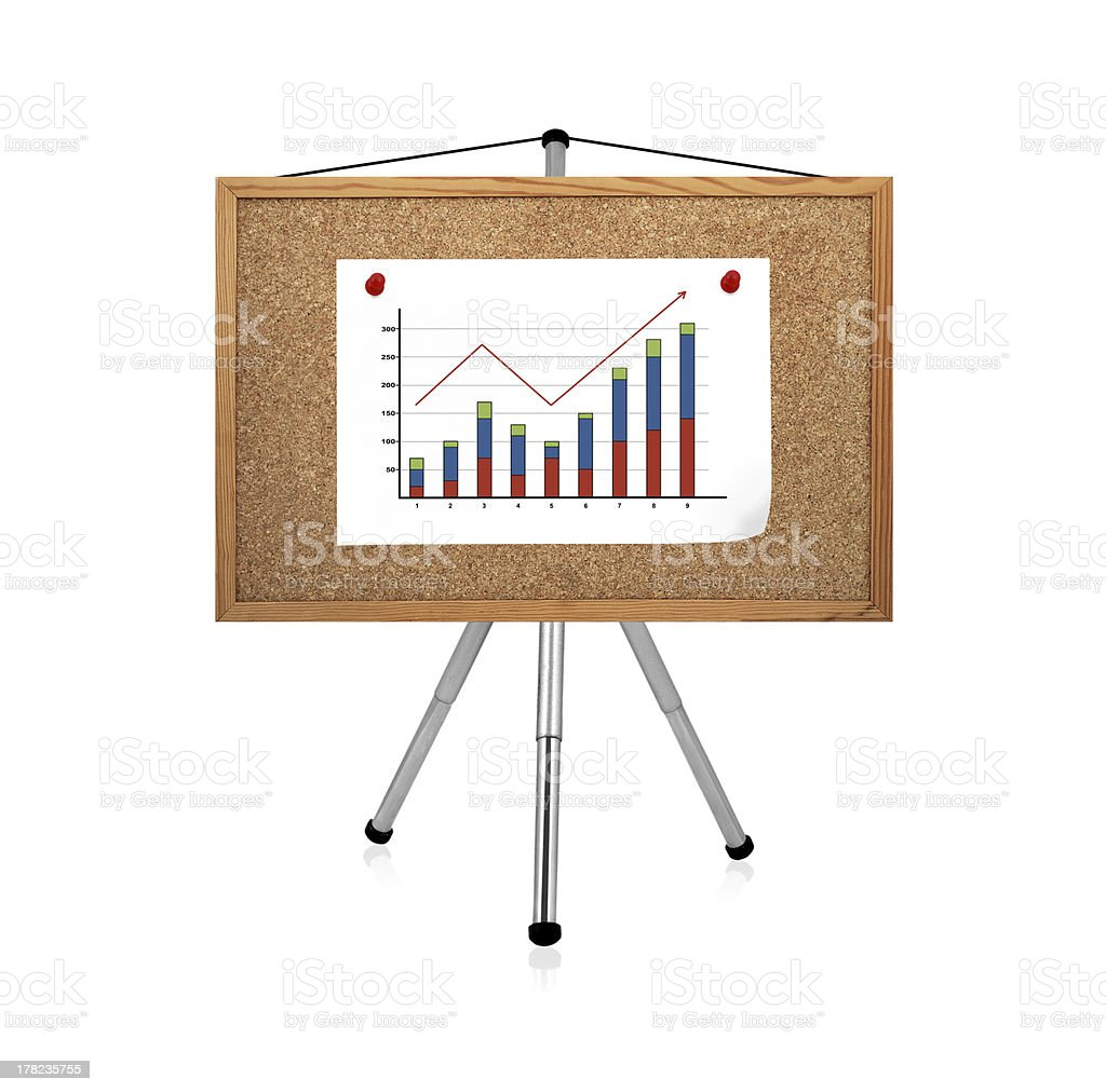 graphic clip to cork board royalty-free stock photo