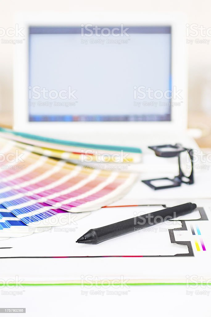 Graphic design and printing concept royalty-free stock photo