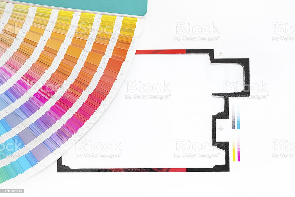 Graphic design and printing royalty-free stock photo