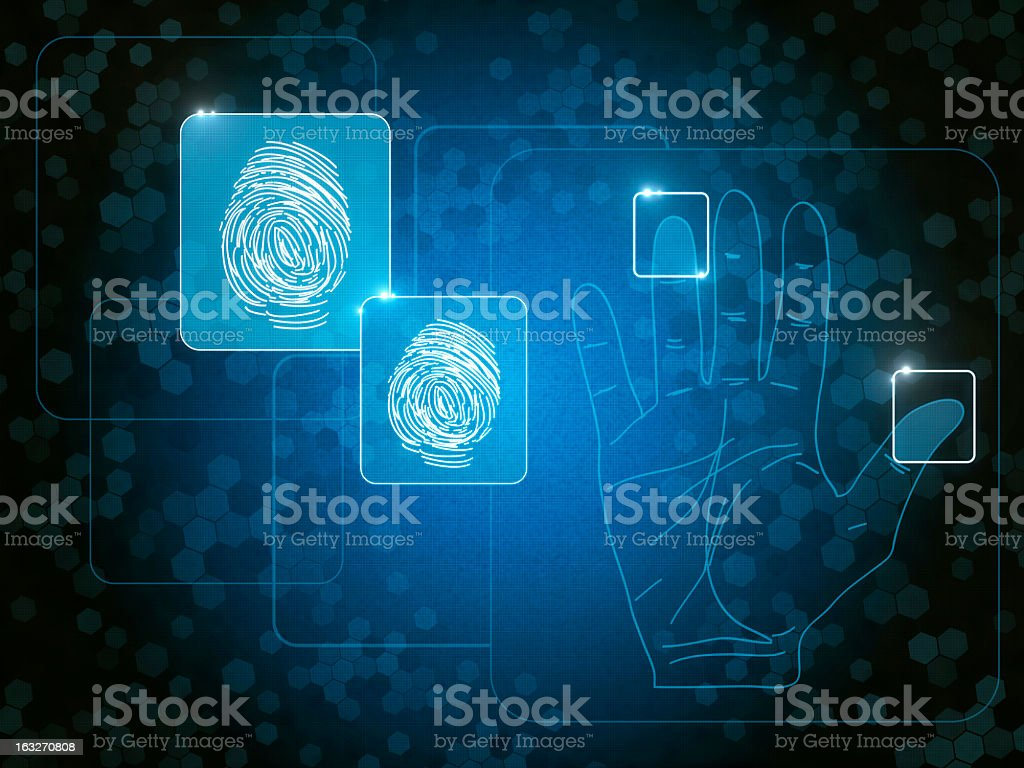 Graphic design of fingerprints suggesting identity stock photo