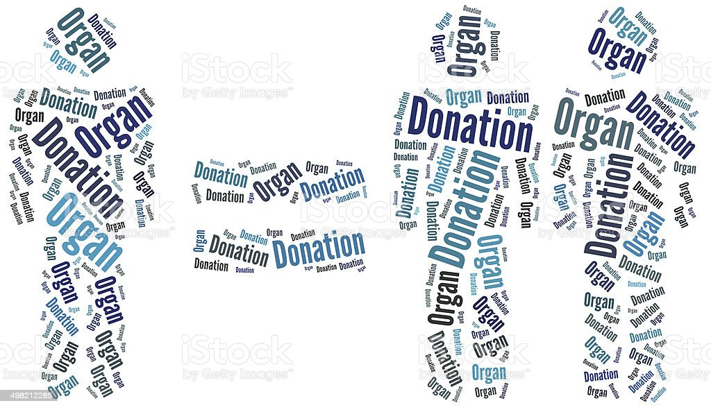 Graphic design related to organ donation stock photo