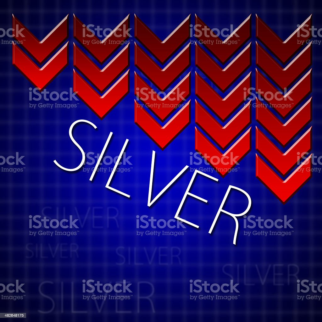 Graphic design trading related illustrating commodity drop stock photo