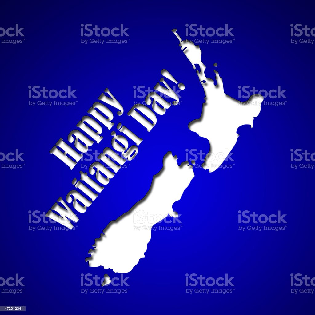 Graphic design Waitangi Day in New Zealand related stock photo