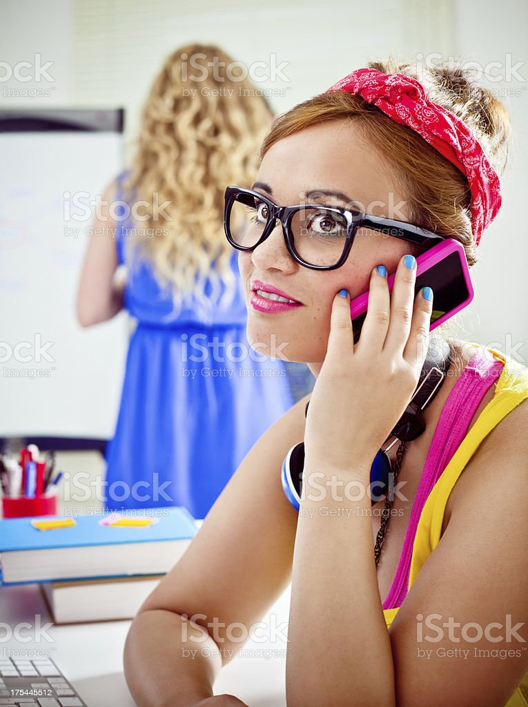 Graphic designer at work royalty-free stock photo