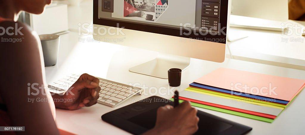 Graphic Designer Creativity Editor Ideas Designer Concept stock photo