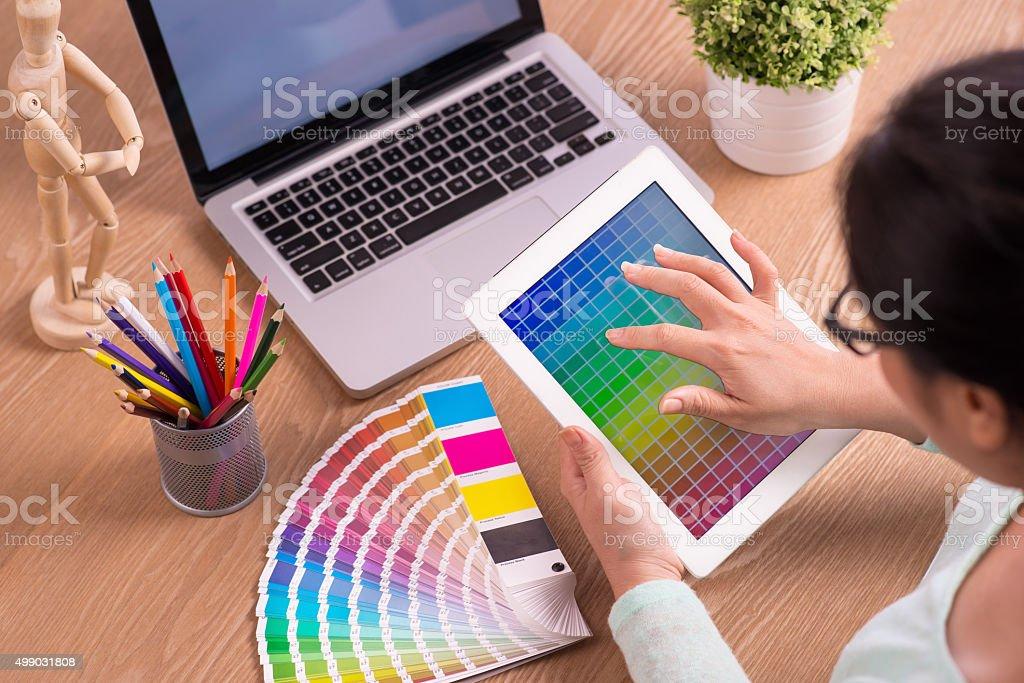 Graphic Designer stock photo