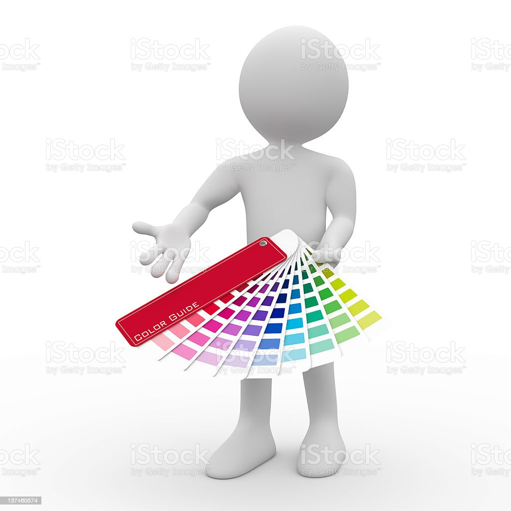 Graphic designer showing a color palette royalty-free stock photo