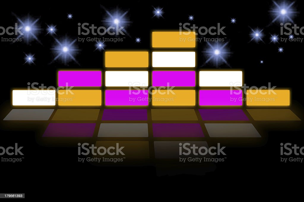 Graphic Equalizer background royalty-free stock photo