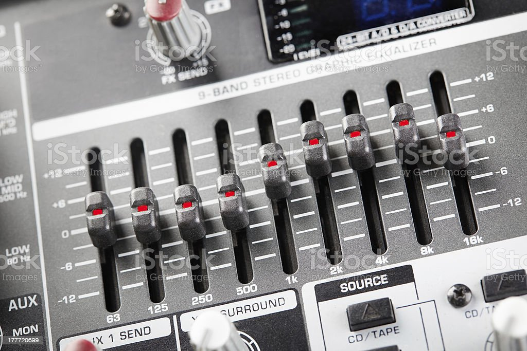 Graphic equalizer royalty-free stock photo