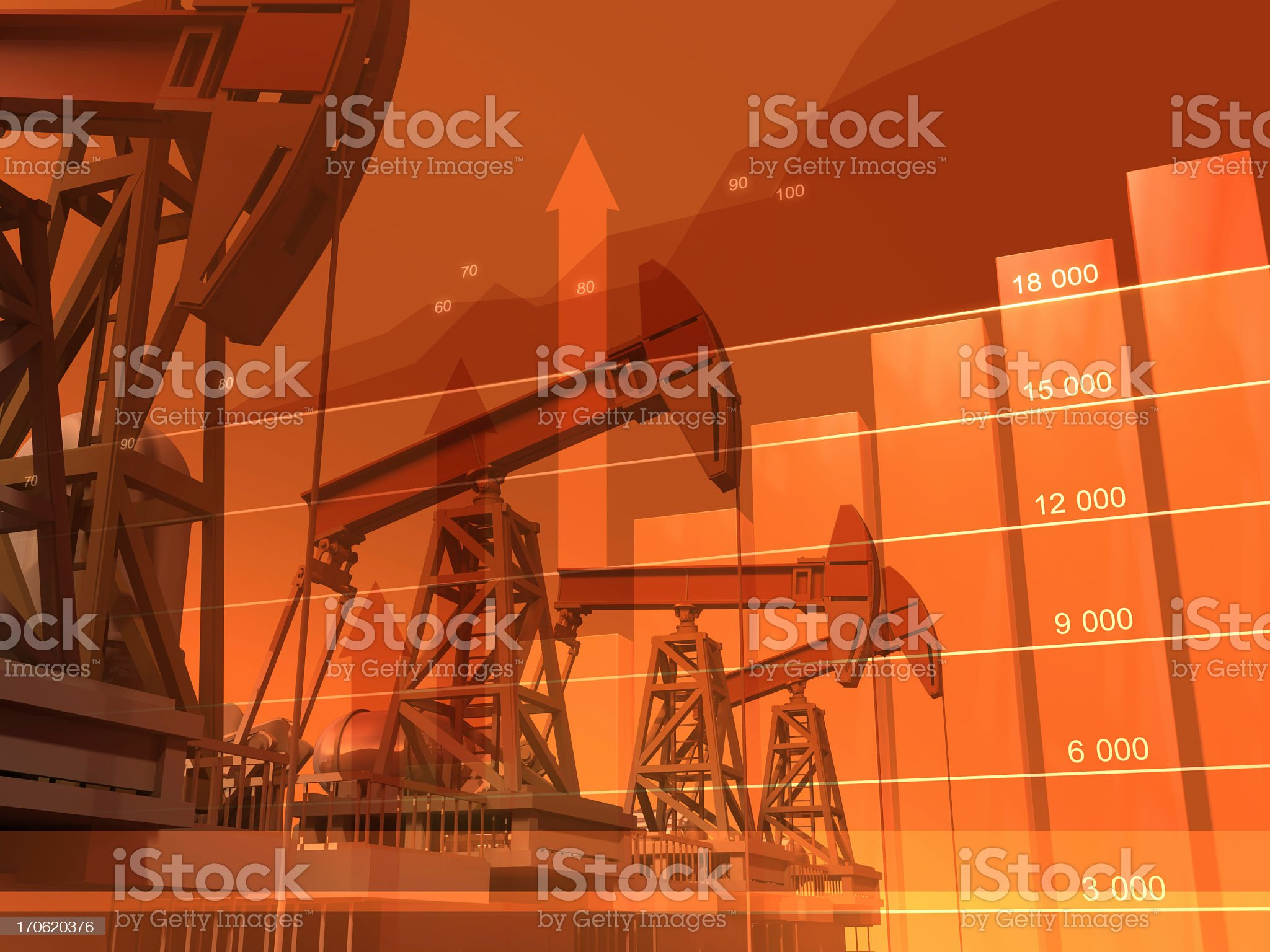 Graphic image depicting global oil royalty-free stock photo