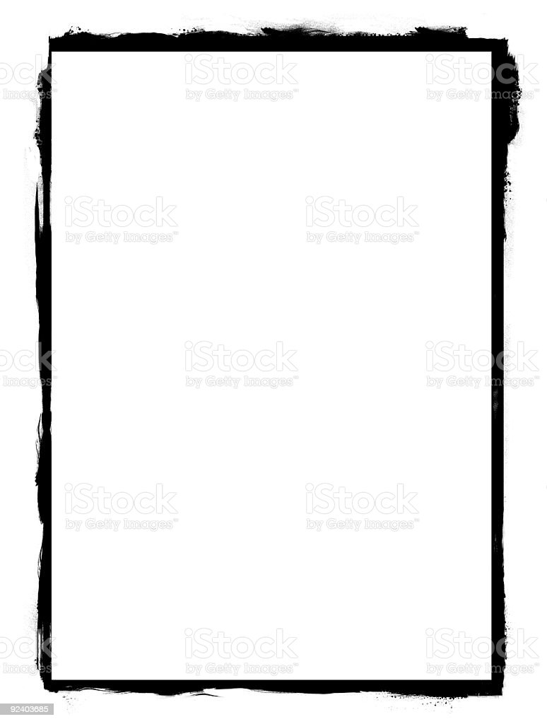 A graphic image of a drawn black frame stock photo