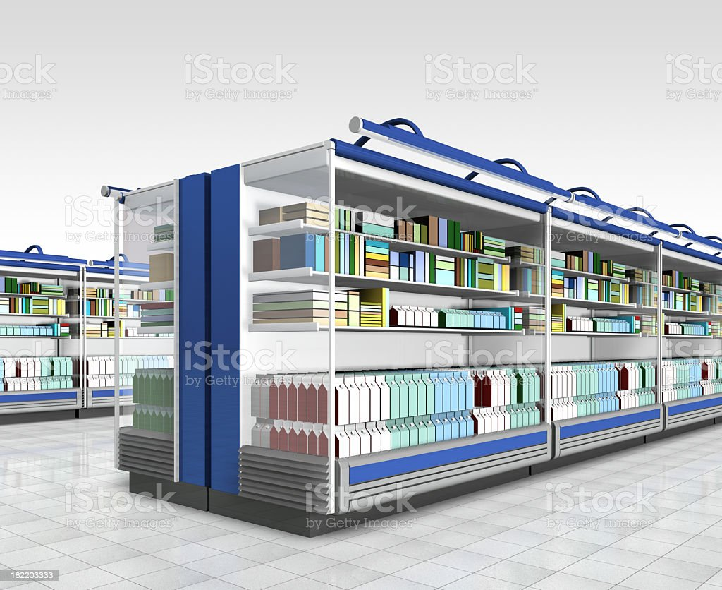 Graphic image of a retail environment royalty-free stock photo