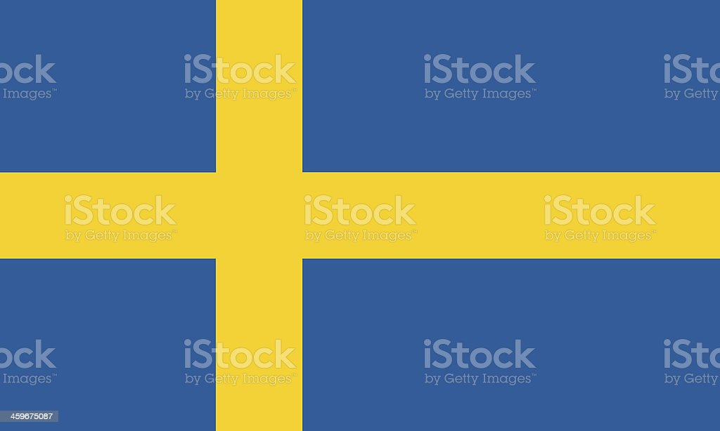 Graphic of the blue and yellow Swedish national flag stock photo