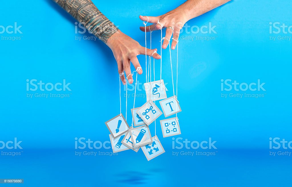 Graphic Puppeteer stock photo