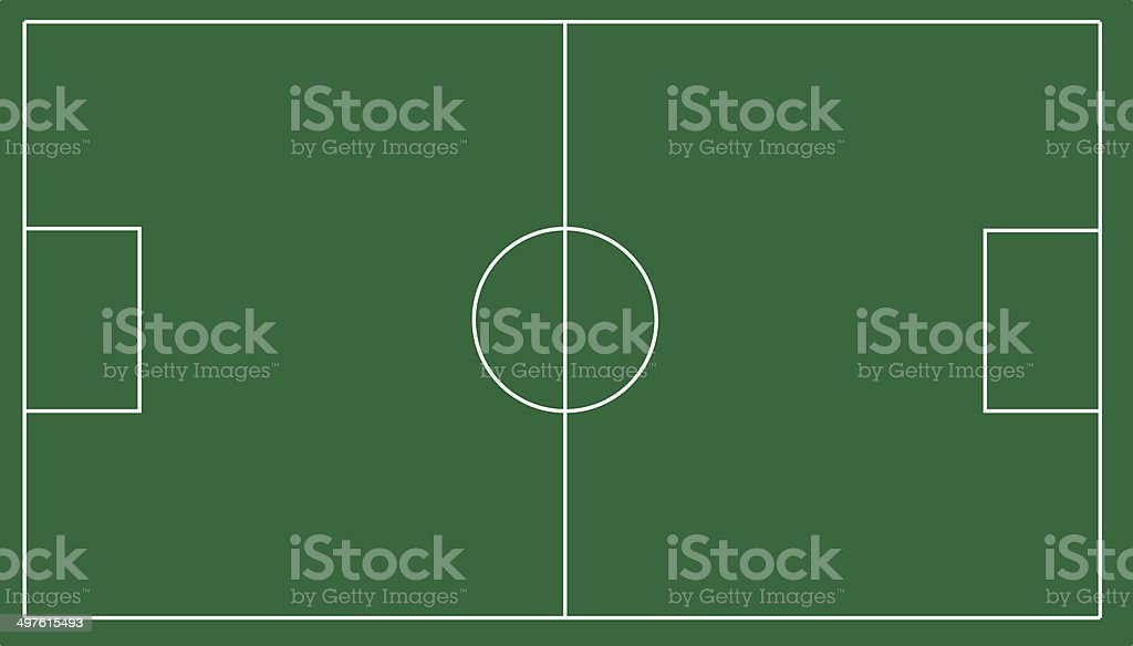 Graphic Soccer Field royalty-free stock photo