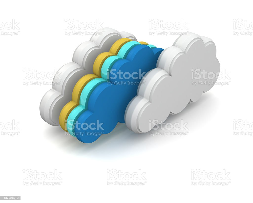 Graphic symbol of cloud computing technology royalty-free stock photo