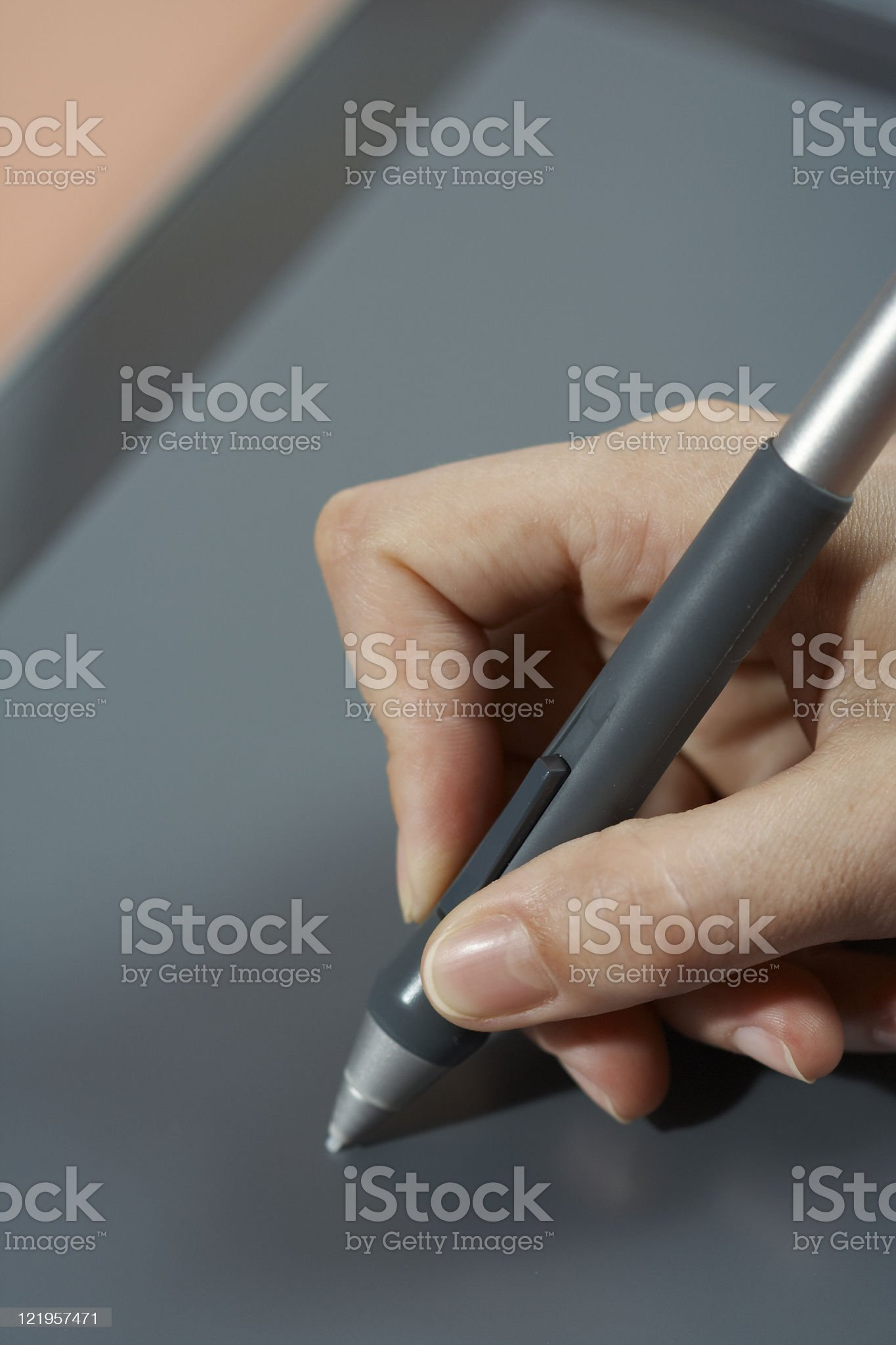 Graphic tablet. royalty-free stock photo