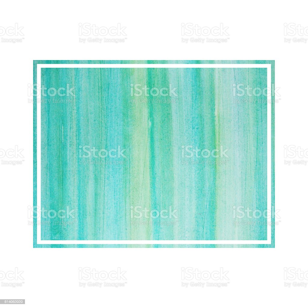 Graphic watercolor design element. Text frame. stock photo