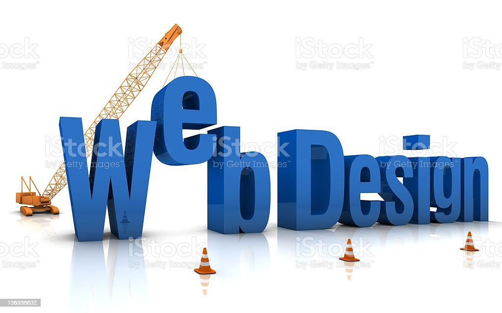Graphic web design under construction image royalty-free stock photo