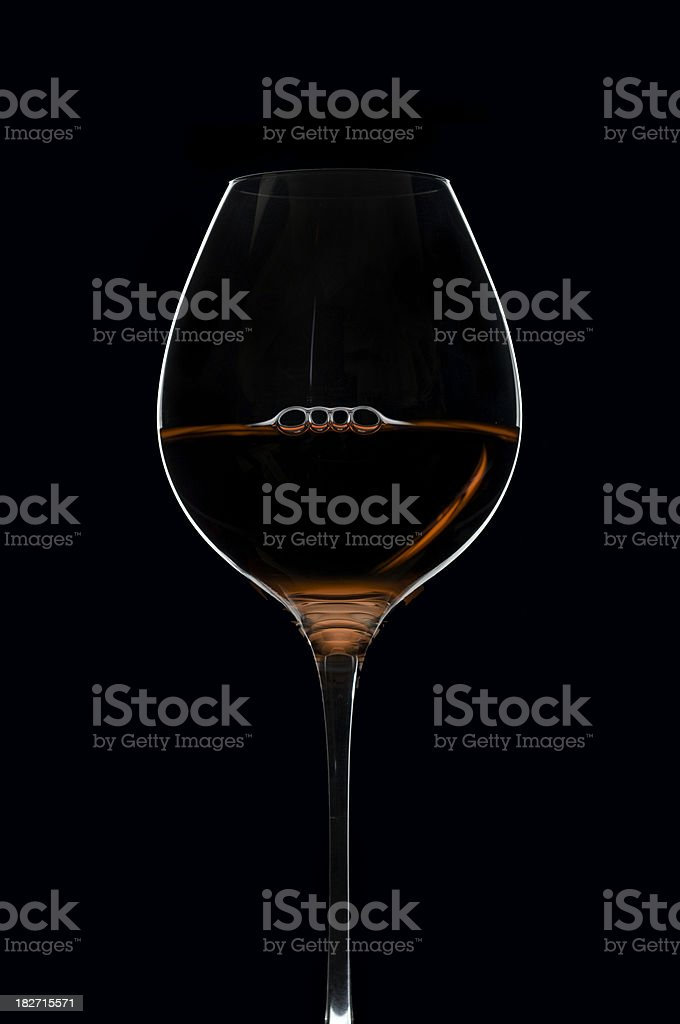 Graphic wineglass royalty-free stock photo