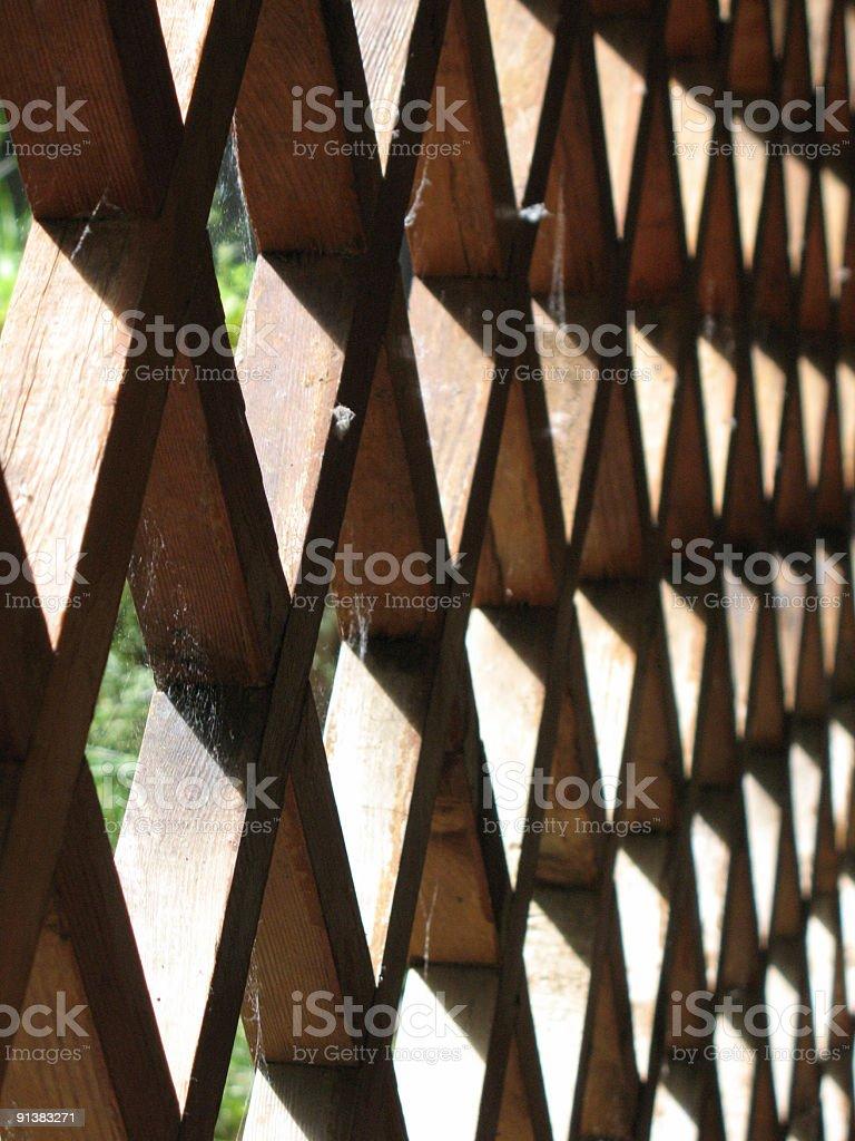 Graphic Wood Lattice Pattern stock photo