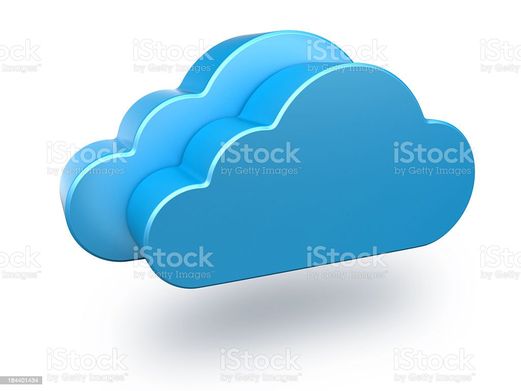 Graphical blue clouds on white background royalty-free stock photo
