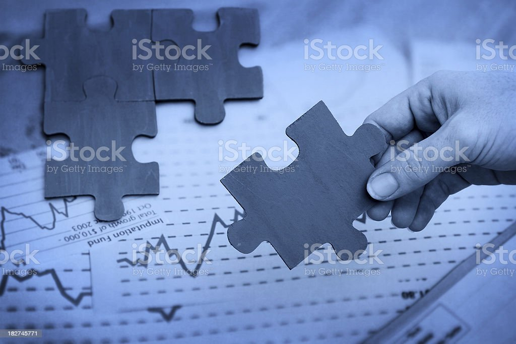 Graphical Financial Solutions royalty-free stock photo