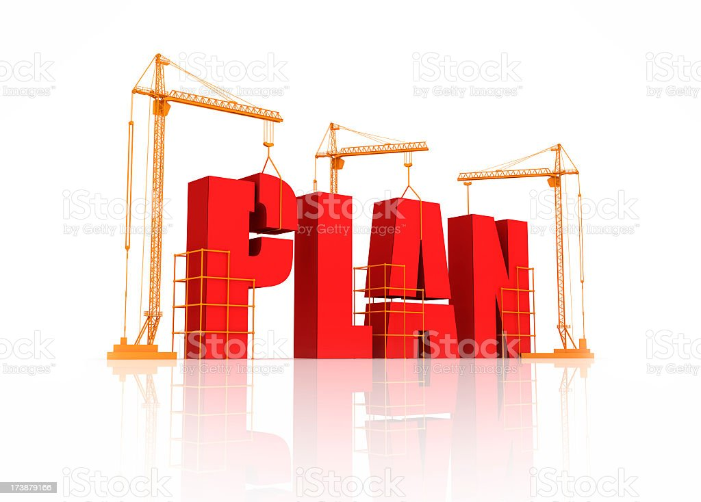 Graphical illustration of a building plan royalty-free stock photo