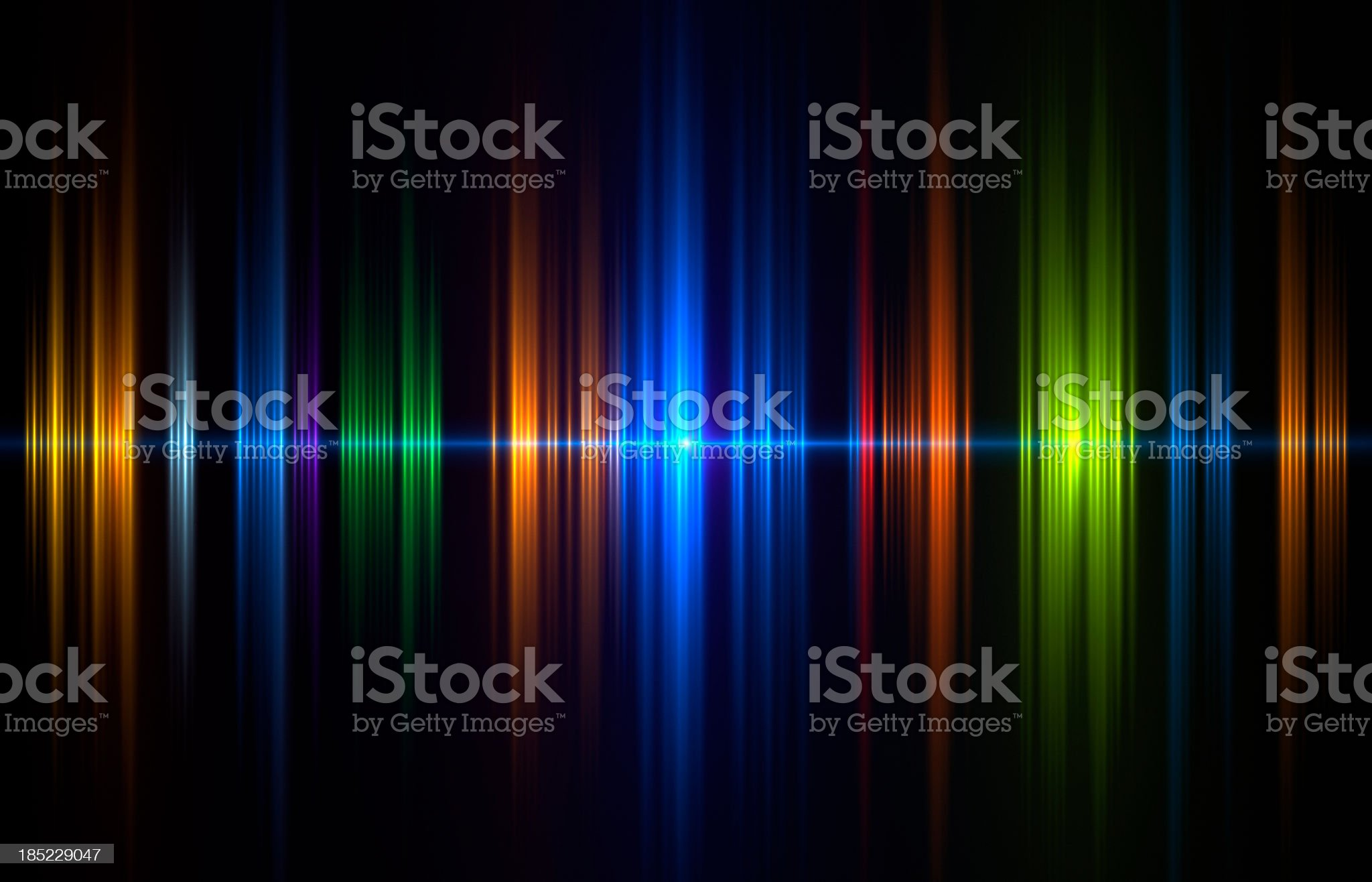 Graphical image of soundwave in blue, green and orange royalty-free stock photo