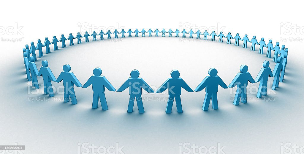 Graphical representation of a human circle royalty-free stock photo