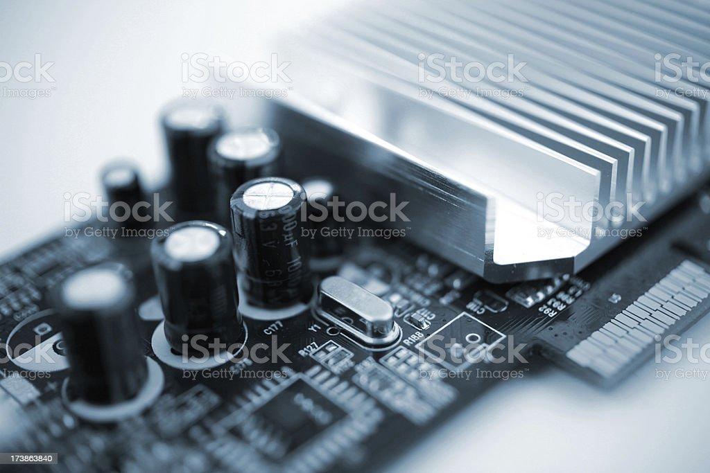 graphics card closeup stock photo